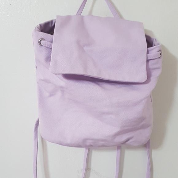 bb8de808d BAGGU Bags   Lilac Canvas Mini Bacpack   Poshmark